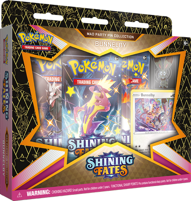 Pokemon - Shining Fates - Mad Party Pin Collection - Bunnelby available at 401 Games Canada