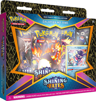 Pokemon - Shining Fates - Mad Party Pin Collection - Galarian Mr. Rime available at 401 Games Canada