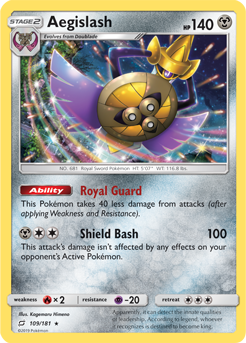 Buy Aegislash - 109/181 and more Great Pokemon Products at 401 Games