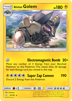 Buy Alolan Golem - 37/181 and more Great Pokemon Products at 401 Games