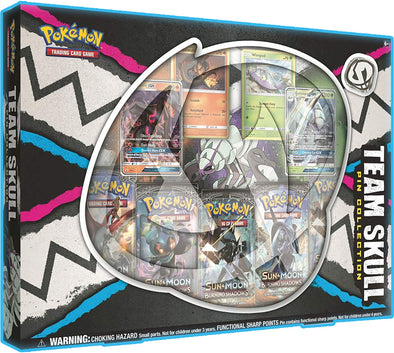 Buy Pokemon - Team Skull Pin Collection Box and more Great Pokemon Products at 401 Games