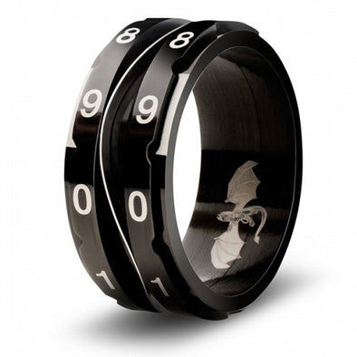 Level Counter Dice Ring - Size 13 - Black
