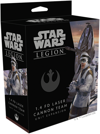 Buy Star Wars - Legion - Rebel - 1.4 FD Laser Cannon Team and more Great Tabletop Wargames Products at 401 Games