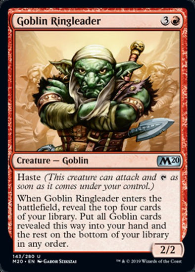 Goblin Ringleader (M20) available at 401 Games Canada