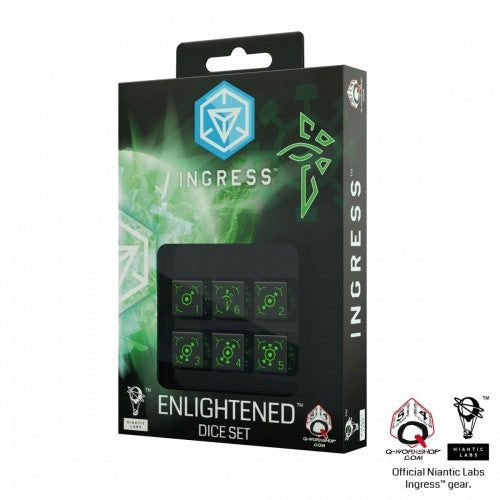 Buy Dice Set - Q-Workshop - 6D6 - Ingress Enlightened and more Great Dice Products at 401 Games