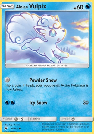 Buy Alolan Vulpix - 27/147 and more Great Pokemon Products at 401 Games
