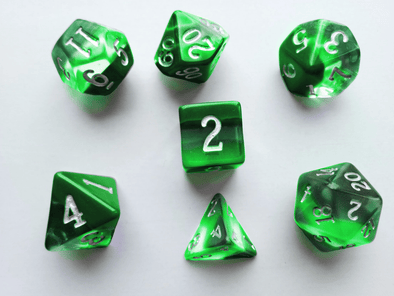 Little Dragon - Birthstone Dice - Emerald (May)