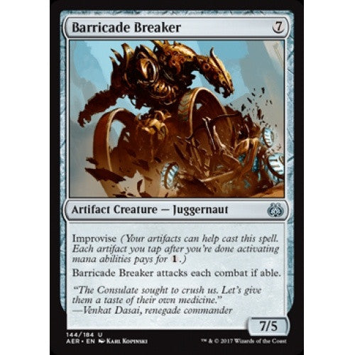 Barricade Breaker (AER) available at 401 Games Canada