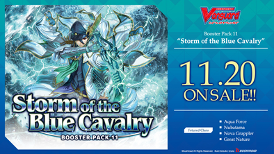 Cardfight!! Vanguard -V Booster Set 11: Storm of the Blue Cavalry Case (20 Boxes) (Pre-Order November 20, 2020) - 401 Games