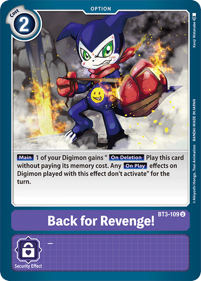 Back for Revenge! (BT3-109) available at 401 Games Canada