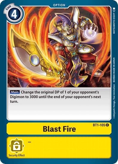 Blast Fire (BT1-105) available at 401 Games Canada