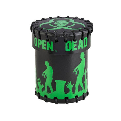 Leather Dice Cup - Zombie Black and Green - 401 Games