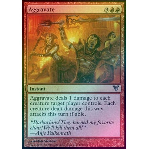 Aggravate (Foil) (AVR) available at 401 Games Canada