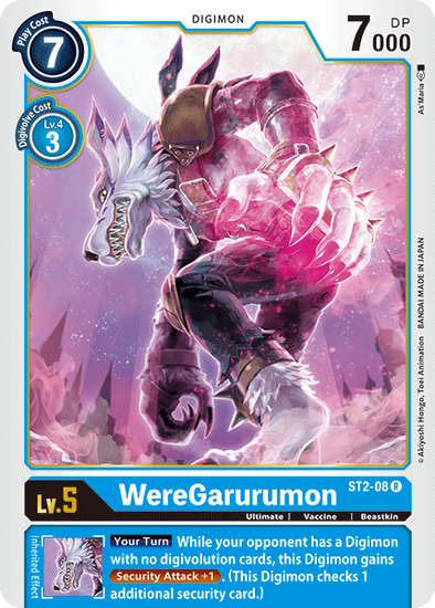 WereGarurumon (ST2-08) available at 401 Games Canada