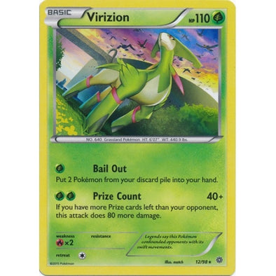 Virizion - 12/98 - Reverse Foil (AOR012R) available at 401 Games Canada