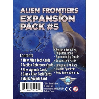 Alien Frontiers - Expansion Pack 5 available at 401 Games Canada