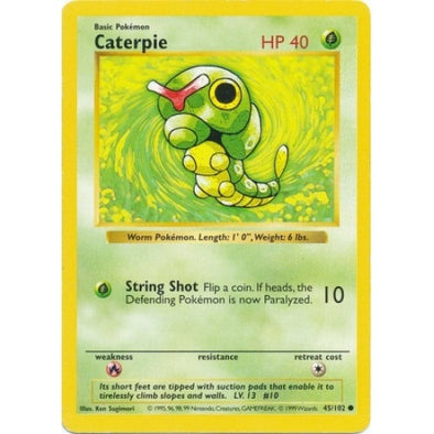 Caterpie - 45/102 - Shadowless (Shad) - 401 Games