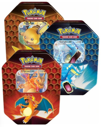 Pokemon - Hidden Fates Tin - Set of 3 - 401 Games