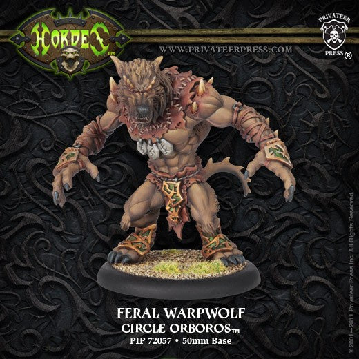 Hordes - Circle Orboros - Feral/Pureblood/Stalker Warpwolf available at 401 Games Canada