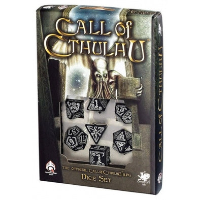 Buy Dice Set - Q-Workshop - 7 Piece Set - Call of Cthulhu - Black Glow in the Dark and more Great Dice Products at 401 Games