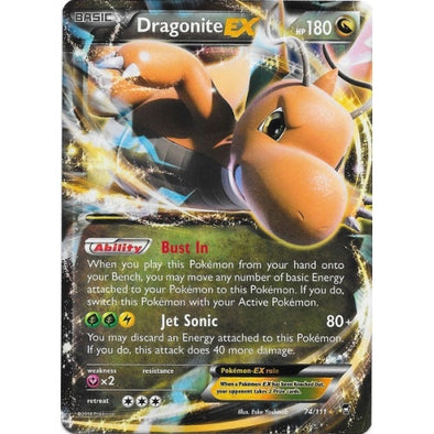 Buy Dragonite-EX - 74/111 and more Great Pokemon Products at 401 Games