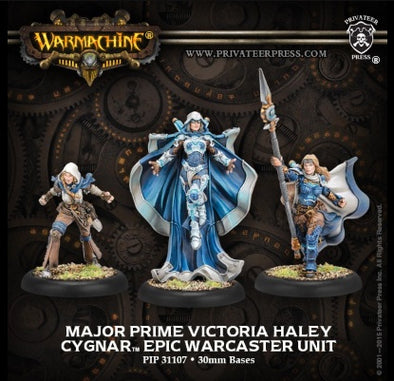 Buy Warmachine - Cygnar - Major Prime Victoria Haley and more Great Tabletop Wargames Products at 401 Games