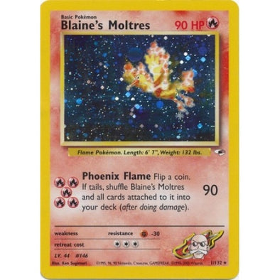 Buy Blaine's Moltres - 1/132 - Unlimited (GYMH) and more Great Pokemon Products at 401 Games