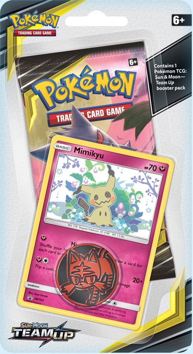 Pokemon - Team Up Check Lane Blister Pack - Mimikyu available at 401 Games Canada