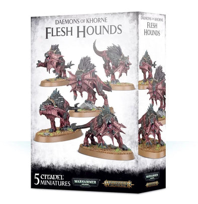 Buy Warhammer - Age of Sigmar - Daemons of Khorne - Flesh Hounds and more Great Games Workshop Products at 401 Games