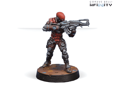 Infinity - Nomads - Intruder, Corregidor Assault Commando (HMG) - 401 Games