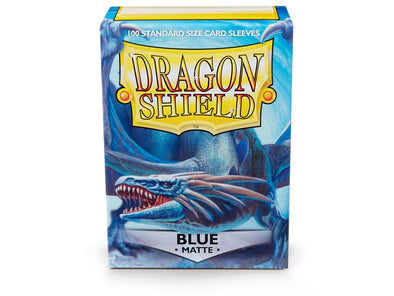 Buy Dragon Shield - 100ct Standard Size - Blue Matte and more Great Sleeves & Supplies Products at 401 Games