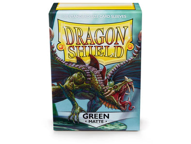 Buy Dragon Shield - 100ct Standard Size - Green Matte and more Great Sleeves & Supplies Products at 401 Games