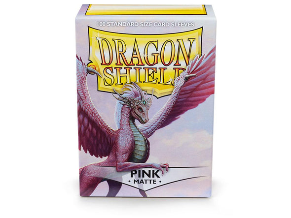 Buy Dragon Shield - 100ct Standard Size - Pink Matte and more Great Sleeves & Supplies Products at 401 Games