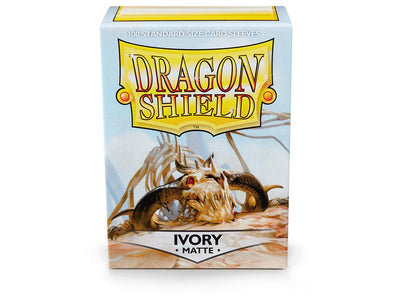 Buy Dragon Shield - 100ct Standard Size - Ivory Matte and more Great Sleeves & Supplies Products at 401 Games
