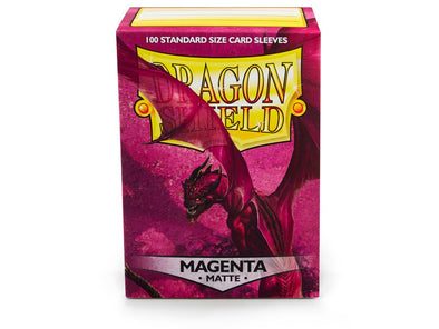 Buy Dragon Shield - 100ct Standard Size - Magenta Matte and more Great Sleeves & Supplies Products at 401 Games