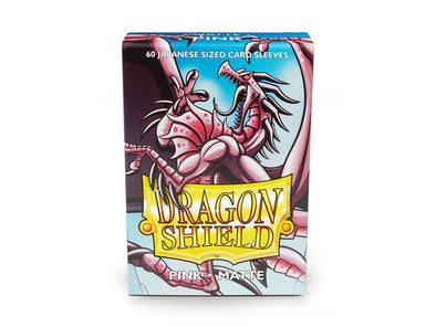 Buy Dragon Shield - 60ct Japanese Size - Pink Matte and more Great Sleeves & Supplies Products at 401 Games