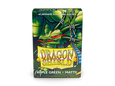 Buy Dragon Shield - 60ct Japanese Size - Apple Green Matte and more Great Sleeves & Supplies Products at 401 Games