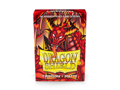 Buy Dragon Shield - 60ct Japanese Size - Crimson Matte and more Great Sleeves & Supplies Products at 401 Games