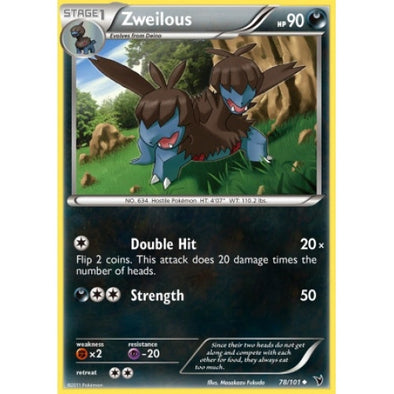 Buy Zweilous - 78/101 - Reverse Foil and more Great Pokemon Products at 401 Games