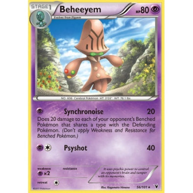 Buy Beheeyem - 56/101 - Reverse Foil and more Great Pokemon Products at 401 Games