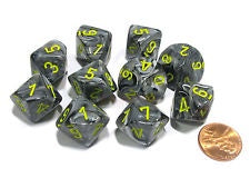 Chessex - 10D10 - Vortex - Black/Yellow