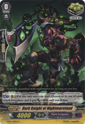 Dark Knight of Nightmareland - G-BT11/091C - 401 Games