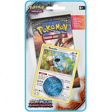 Buy Pokemon - Burning Shadows 1-Pack Blister Komala Promo and more Great Pokemon Products at 401 Games