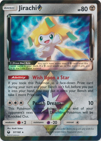 Buy Jirachi Prism Star - 97/168 and more Great Pokemon Products at 401 Games
