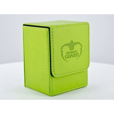 Ultimate Guard - Flip Deck Case Leatherette 100+ - Light Green available at 401 Games Canada
