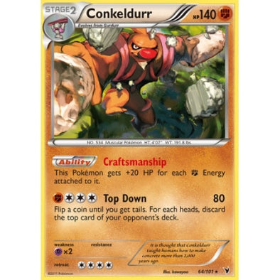 Buy Conkeldurr - 64/101 - Reverse Foil and more Great Pokemon Products at 401 Games