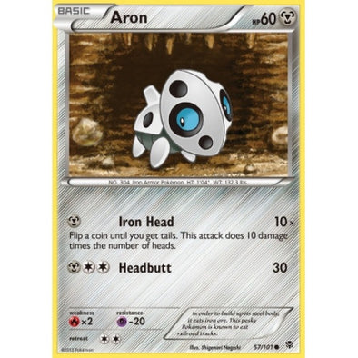 Buy Aron - 57/101 - Reverse Foil and more Great Pokemon Products at 401 Games