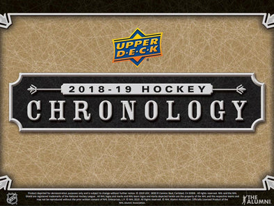 2018-19 Upper Deck Chronology Hockey Volume 1 Hobby Box - 401 Games