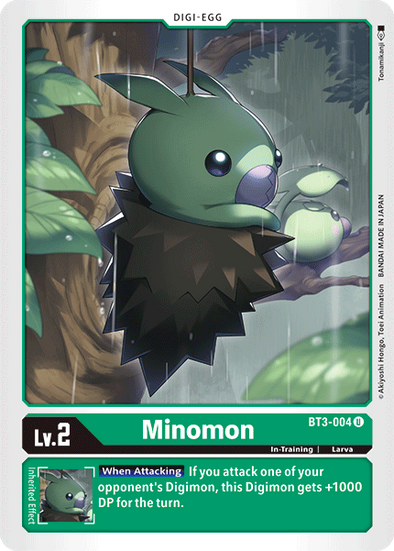 Minomon (BT3-004) available at 401 Games Canada