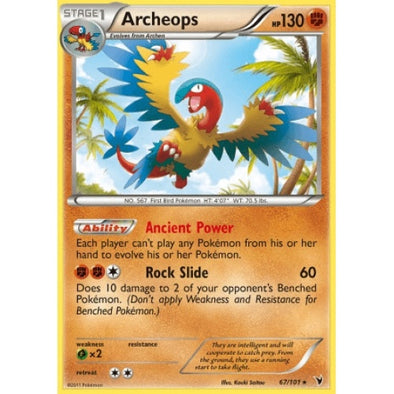 Buy Archeops - 67/101 - Reverse Foil and more Great Pokemon Products at 401 Games